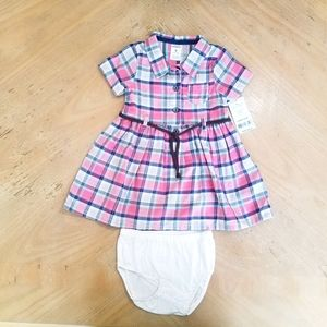 Carter's 9M dress with bloomers. NWT.